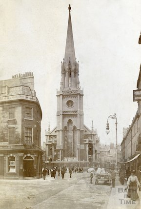 St. Michael's Church exterior showing tower, c.1900