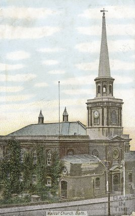 Postcard of Walcot Church, posted 1906