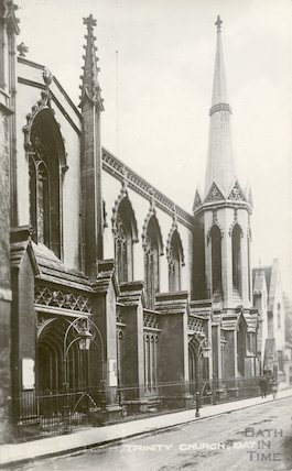Postcard of Holy Trinity Church, Bath, 1912