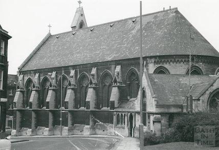 St. Paul's Church (now Holy Trinity), Chapel Row, Bath 1968