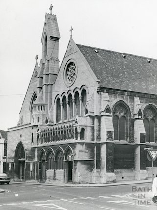 Holy Trinity Church formerly St. Paul's, Chapel Row, Bath, 1968