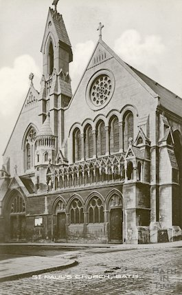 Postcard of St. Paul's Church (Holy Trinity), Bath, c.1912