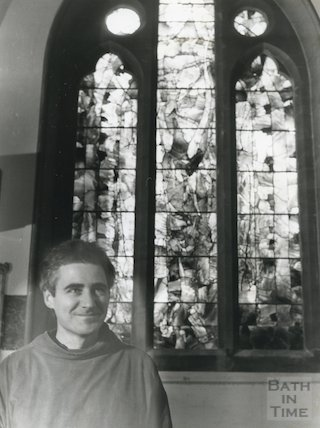 St. Stephen's Church, Lansdown (stained glass window made by Mark Angus), c.1980