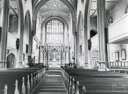 St. Saviour's Church, Larkhall (interior), 3 September 1980