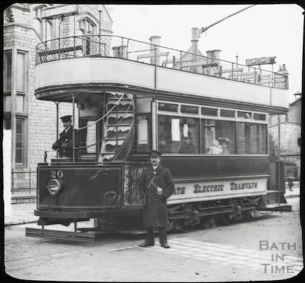 Tram no 20 on the Lower Bristol Road, c.1905