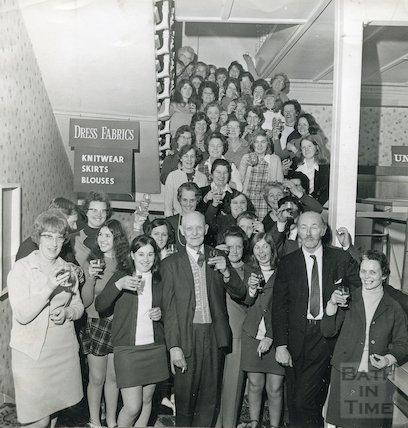 Staff of Plummer Roddis, New Bond Street, Bath, 1 March 1971