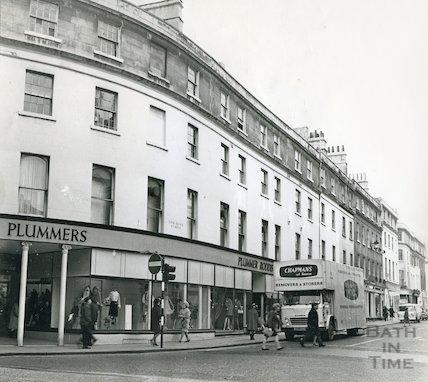 The Plummer Roddis Building, New Bond Street, Bath, 24 November 1969