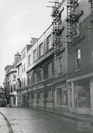 The rear of the Plummer Roddis Building, Upper Borough Walls, Bath, c.1980