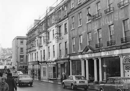 The Old Red House and the Plummer Roddis Building, New Bond Street, Bath, c.1980