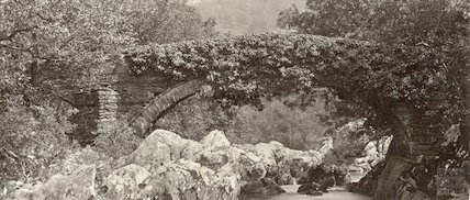 The Lledr Bridge near Bettys y Coed, Wales, c.1880s