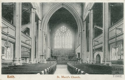 Interior of St Mary's Church, Bathwick, Bath. C.1908