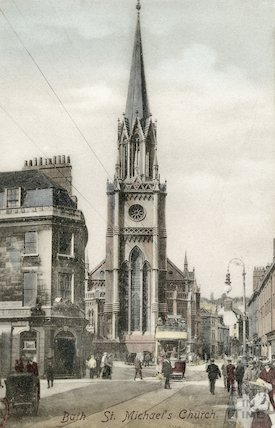 Northgate Street and St Michael's Church, Bath c.1905