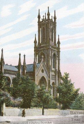 Postcard of St Stephens Church, Lansdown, Bath, c.1905