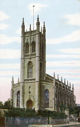 Postcard of St Saviours Church, Larkhall Bath, c.1905