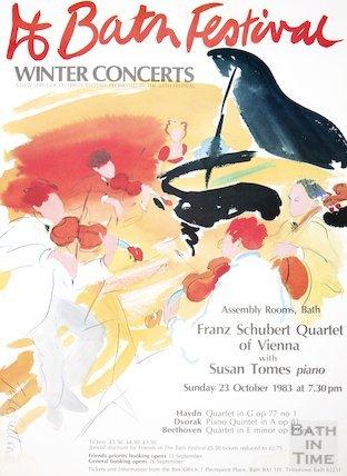 Bath Festival Poster 1983 Winter Concerts