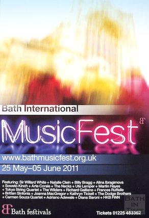 Bath Festival Poster 2011
