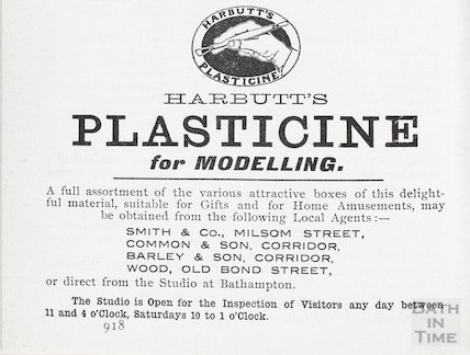 Advertisement in Bath Directory for Plasticine, 1906
