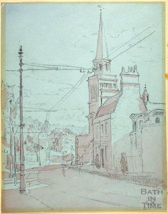 St Swithin's Church, Walcot, Bath c.1916