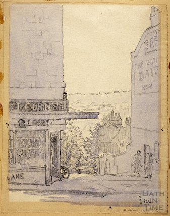 Lansdown Road, the turning to Ainslie's Belvedere, c.1916