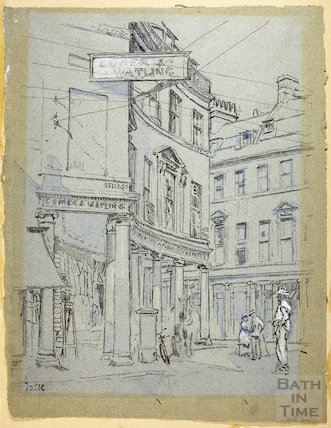 The junction of Bath Street and Stall Street, c.1916