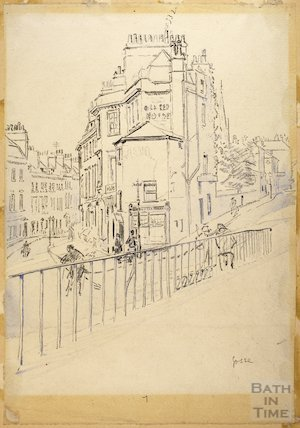 The junction of New King Street and Julian Road, Bath c.1916