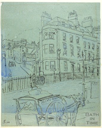 The corner of Walcot Parade and Margaret's Hill, Bath c.1916