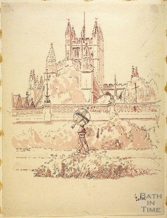 Bath Abbey from Parade Gardens, c.1916