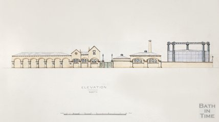 Bath Gas Works, north elevation - detail