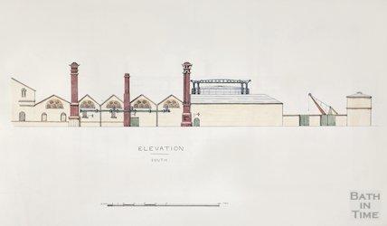 Bath Gas Works, south elevation - detail