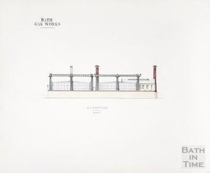 Bath Gas Works, west elevation