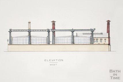 Bath Gas Works, west elevation - detail