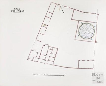 Bath Gas Works, plan view