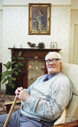 An elderly resident of Fairfield House, Bath, 25 November 1994