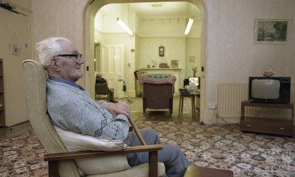 An elderly resident of Fairfield House, Bath, 25 November 1994