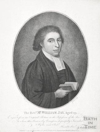 Engraving Revd. Mr William Jay aged 19, October 4th 1788