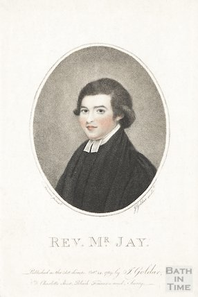 Engraving Rev. Mr Jay, October 24th 1788
