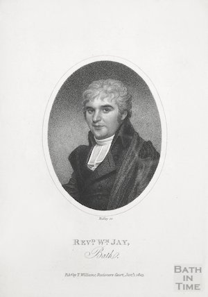 Engraving Rev. Mr Jay (aged 34), January 1st 1803