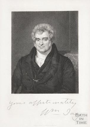 Signed Engraving of Revd. William Jay 1836