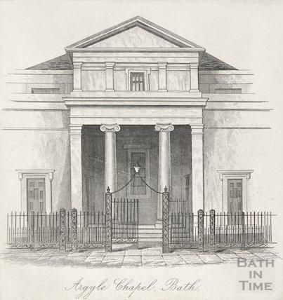 Argyle Chapel, Bath Exterior 1841
