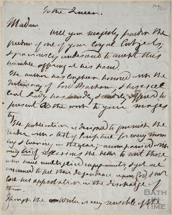 Letter To the Queen from William Jay March 1830