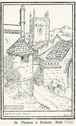 Sketch of St. Thomas a Beckett Church, Widcombe, Bath
