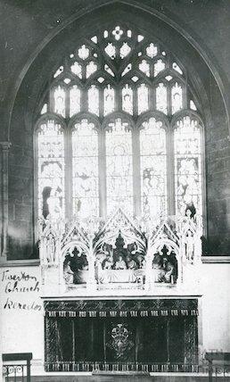 Interior East Window , Twerton Parish Church c.1905