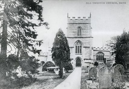 St. Michael's Church, Twerton after rebuilding of 1885 c.1904