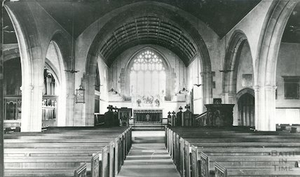 Interior of Twerton Parish Church, c.1905