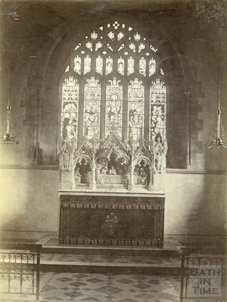 St. Michael's Church, Twerton. East window and reredos. c.1902