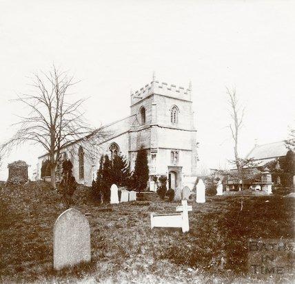 St. Michael's Church, Twerton before rebuilding of 1885. c.1873