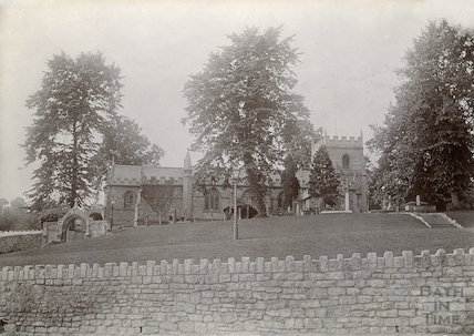 St Michael's Church, Twerton after rebuilding of 1885. c.1902