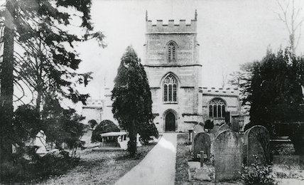 St Michael's and All Saints, Twerton. Postmarked 23 April 1904