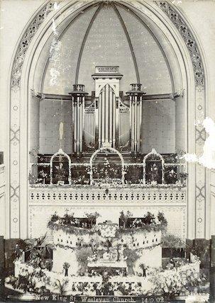 Interior of New King Street Wesleyan Chapel 14 September 1902