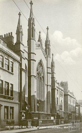 View from street of New King Street Wesleyan Chapel. c.1912